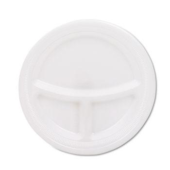 "SOLO® Cup Company Mediumweight Foam Plates, 9"" dia, White, 125/Pack"
