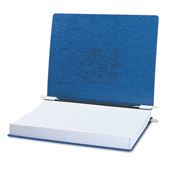 "ACCO® PRESSTEX Covers w/Storage Hooks, 6"" Cap, 11 x 14 7/8, Dark Blue"