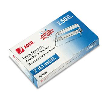 ACCO® Premium Two-Piece Paper File Fasteners, Two Inch Capacity, 50/Box