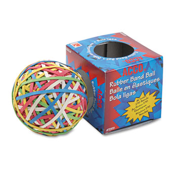 ACCO® Rubber Band Ball, Minimum 260 Rubber Bands
