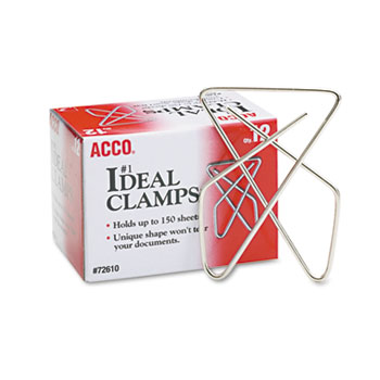 "Ideal Clamps, Steel Wire, Large, 2-5/8"", Silver, 12/Box"