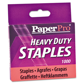 "PaperPro® Heavy-Duty Staples, 1/2"" Leg Length, 1000/Box"
