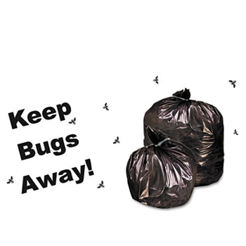 Stout® Insect-Repellent Trash Garbage Bags, 55gal, 2mil, 37 x 52, Blk, 65/Box