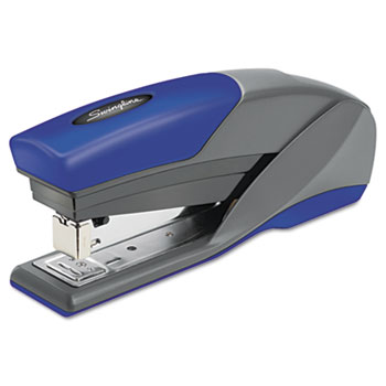 Swingline® Light Touch Reduced Effort Full Strip Stapler, 20-Sheet Capacity, Blue