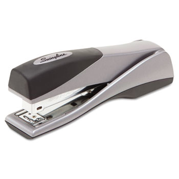 Swingline® Optima Grip Full Strip Stapler, 25-Sheet Capacity, Silver