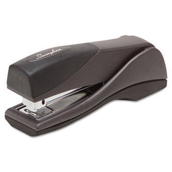 Swingline® Optima Grip Compact Stapler, Half Strip, 25-Sheet Capacity, Graphite