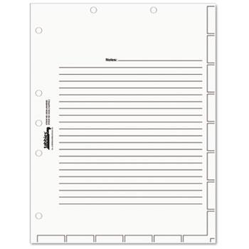Tabbies® Medical Chart Index Divider Sheets, 8-1/2 x 11, White, 400/Box