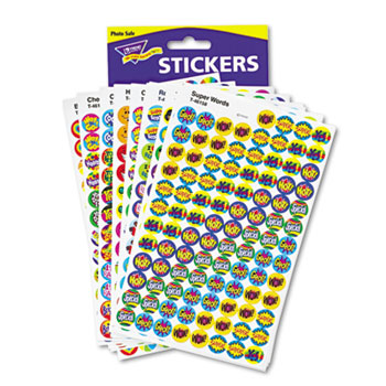TREND® SuperSpots and SuperShapes Sticker Variety Packs, Positive Praisers, 2,500/Pack