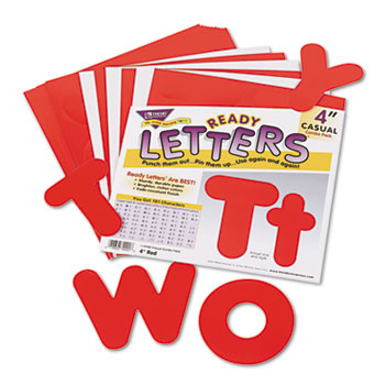 """TREND® Ready Letters Casual Combo Set, Red, 4""""h, 182/Set"""