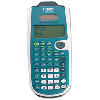 TI-30XS MultiView Scientific Calculator, 16-Digit LCD
