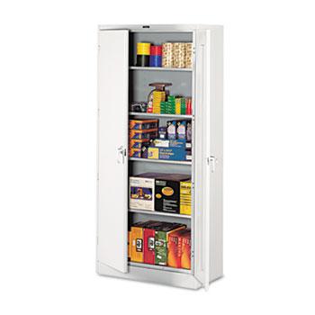 "Tennsco 78"" High Deluxe Cabinet, 36w x 18d x 78h, Light Gray"