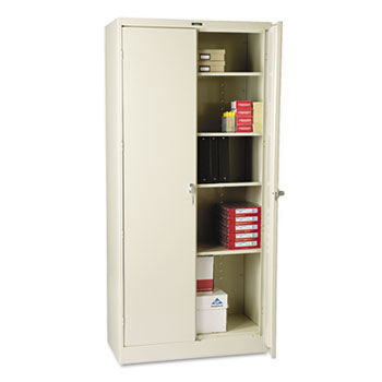 """Tennsco 78"""" High Deluxe Cabinet, 36w x 18d x 78h, Putty"""