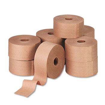 "General Supply Reinforced Kraft Sealing Tape, 3"" x 450ft, Brown, 10/CT"