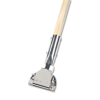 "Boardwalk® Clip-On Dust Mop Handle, Lacquered Wood, Swivel Head, 1"" Dia. x 60in Long"