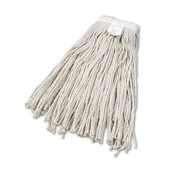 Cut-End Wet Mop Head, Cotton, No. 24, White