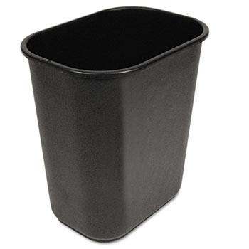 UNISAN Soft-Sided Wastebasket, 28qt, Black