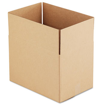 """General Supply Fixed-Depth Shipping Boxes, Regular Slotted Container (RSC), 18"""" x 12"""" x 12"""", Brown Kraft, 25/Bundle"""