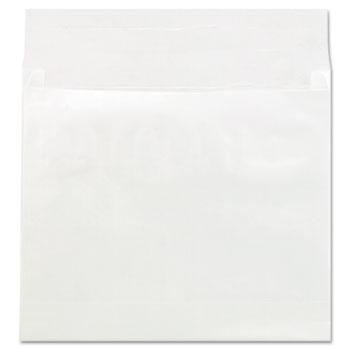 Universal® Deluxe Tyvek Expansion Envelopes, Square Flap, Self-Adhesive Closure, 12 x 16, White, 50/Carton