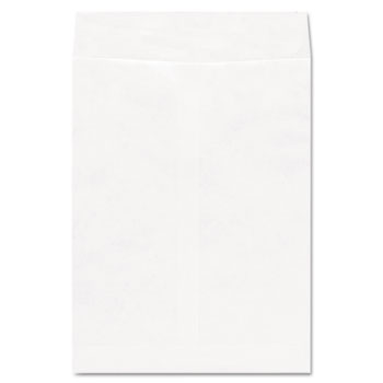 Universal® Deluxe Tyvek Envelopes, #10 1/2, Square Flap, Self-Adhesive Closure, 9 x 12, White, 100/Box