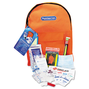 PhysiciansCare® by First Aid Only® Emergency Preparedness First Aid Backpack, 43 Pieces/Kit