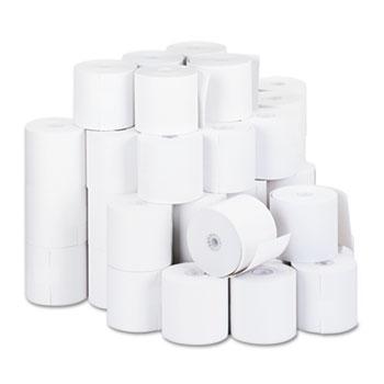 """Impact & Inkjet Print Bond Paper Rolls, 0.5"""" Core, 2.75"""" x 190 ft, White, 50/Carton"""