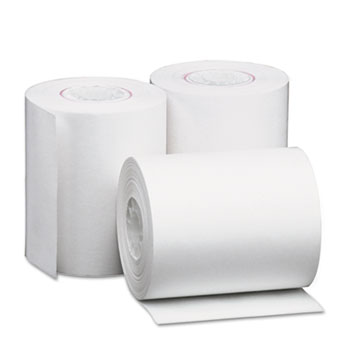"""Universal Direct Thermal Printing Paper Rolls, 2.25"""" x 80 ft, White, 50/Carton"""