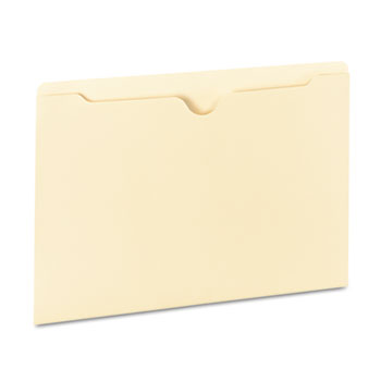 Universal® Deluxe Manila File Jackets with Reinforced Tabs, Straight Tab, Legal Size, Manila, 100/Box