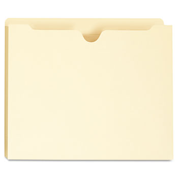 Deluxe Manila File Jackets with Reinforced Tabs, Straight Tab, Letter Size, Manila, 50/Box