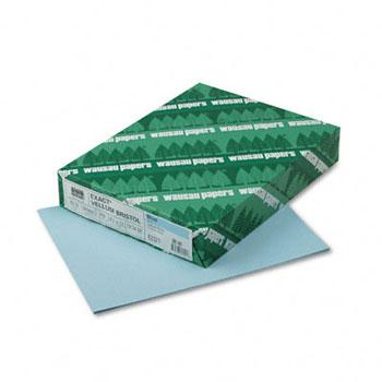 "Neenah Paper Exact Vellum Bristol Cover Stock, 67 lb./147 gsm., 8 1/2"" x 11"", Blue, 250/RM, 2000/CT"