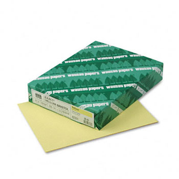"Exact Vellum Bristol Cover Stock, 67 lb./147 gsm., 8 1/2"" x 11"", Yellow, 250/RM, 2000/CT"