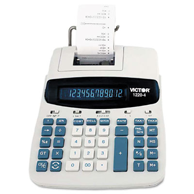 "12-Digit Calculator, 2-Color Printing, 8""x11""x2-1/2"" - 1 EA"