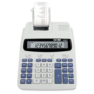 "12-Digit Full Print Calculator, 8""x10-1/2""x2-1/2"", WE/BE - 1 EA"