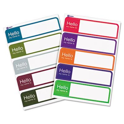 avery hello flexible self adhesive mini name badge labels