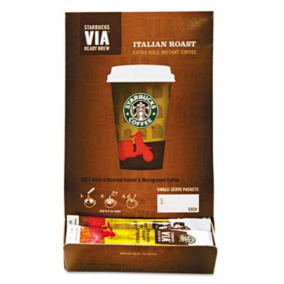 VIA Ready Brew Coffee, 3/25oz, Italian Roast, 50/Box