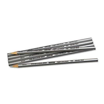Verithin Colored Pencils, Metallic Silver, Dozen - SAN02460-ESA