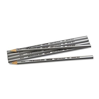 Verithin Colored Pencils, Metallic Silver, Dozen - SAN02460-ESA