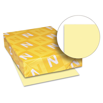 Exact Vellum Bristol Cover Stock, 67 lbs., 8-1/2 x 11, Yellow, 250 Sheets - WAU82331-ESA