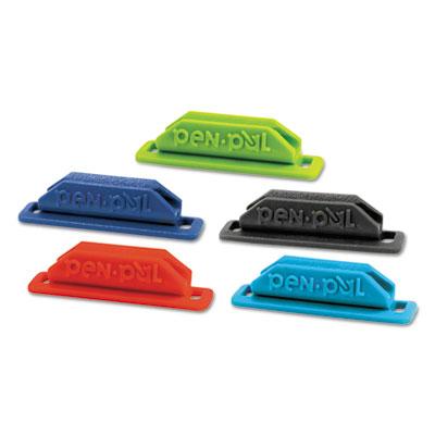 PenPal Rubber Pen/Pencil Holder, 5/8 x 2 5/8 x 5/8, Assorted Colors - TOPPENPAL1-ESA