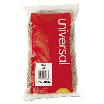 Rubber Bands, Size 33, 3-1/2 x 1/8, 640 Bands/1lb Pack - UNV00133-ESA