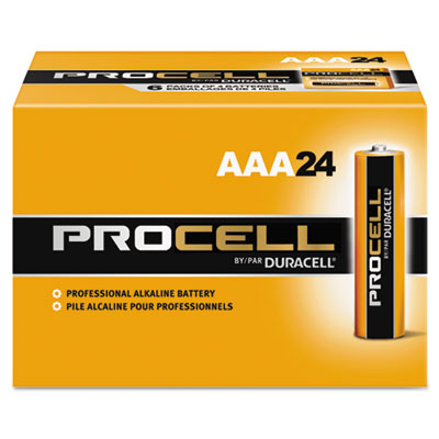 Procell Alkaline Batteries, AAA, 24/Box - DURPC2400BKD-ESA