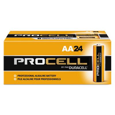 Procell Alkaline Batteries, AA, 24/Box - DURPC1500BKD-ESA