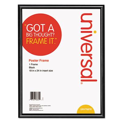 Glossy Black Poster Frame, 18 x 24 - UNV76870-ESA