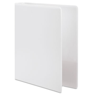 "Vinyl Round Ring Basic View Binder, 1"" Capacity, White"