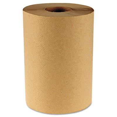 """Hardwound Paper Towels, 8"""" x 350ft, 1-Ply Kraft, 12 Rolls/Carton - BWK6252-ESA"""