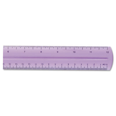 "Westcott� 12"" Transparent Jeweltone Plastic Ruler, Assorted Colors"