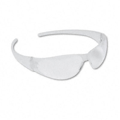 Checkmate Wraparound Safety Glasses, CLR Polycarbonate Frame, Uncoated CLR Lens - CRWCK100