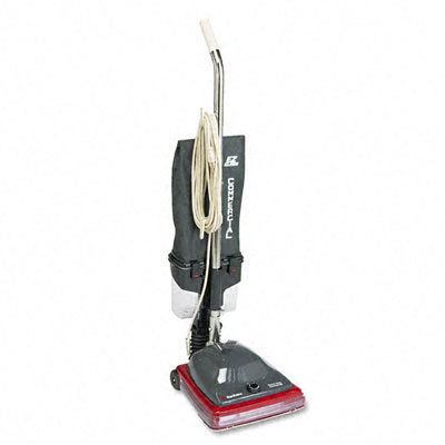 Sanitaire Commercial Lightweight Bagless Upright Vacuum, 14 lbs, Gray/Red - EUKSC689