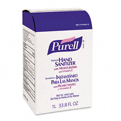 PURELL Instant Hand Sanitizer NXT Refill, 1000-ml Pouch, 8 per Carton - GOJ215608CT