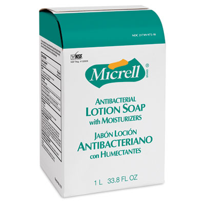MICRELL NXT Antibacterial Lotion Soap Refill, Light Scent, 1000ml Bag, 8/ctn - GOJ215708CT