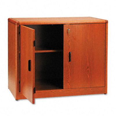 10700 Series Locking Storage Cabinet, 36w x 20d x 29-1/2h, Henna Cherry - HON107291JJ